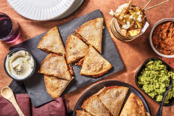 Ultimate Mexican Beef Quesadilla Feast