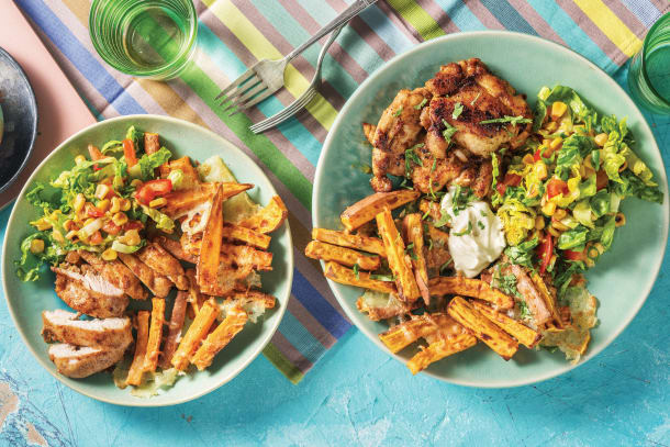 Cheesy Tex-Mex Chicken & Potato Chips