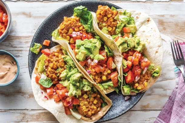 Quick Meals - Mexican Corn Fritter Tacos