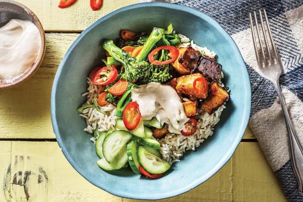 Miso-Glazed Tofu Bowl