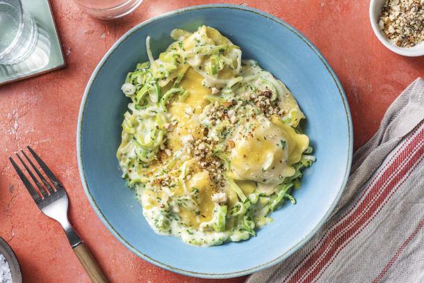 Schnelle Gerichte - Maxi-Ravioli mit Steinpilz-Füllung