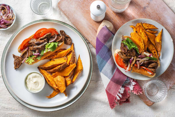 Montreal Spiced Beef Strip Hoagie