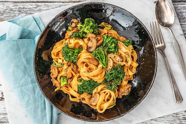 Vegetarian Recipes - Mushroom Tagliatelle