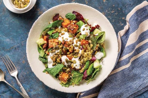Vegetarian Recipes - North African Spiced Pumpkin & Freekeh Bowl