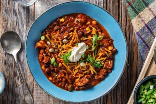 One-Pot Black Bean and Chicken Chili
