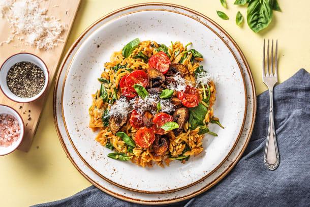 Family - Orzo-Nudel-Risotto mit Pilzen