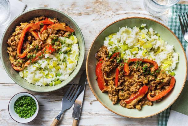 Schnelle Gerichte - Paprika-Hackfleisch-Pfanne