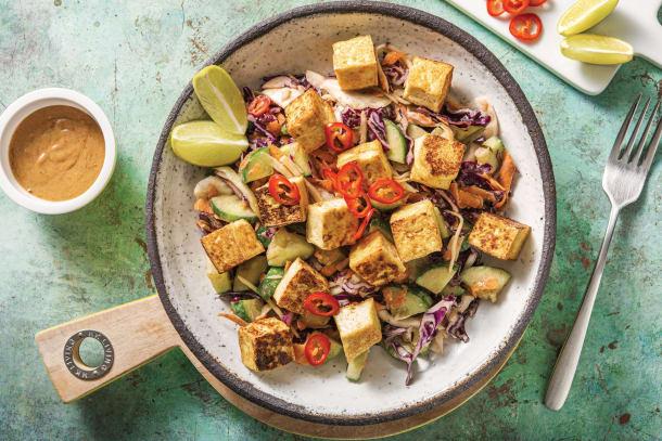 Peanut & Kaffir Lime Tofu Salad