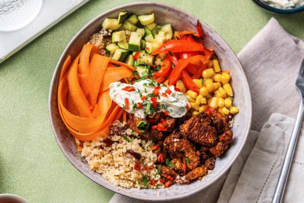 Snabba Middagstips - Poke bowl med BBQ-marinerad kyckling
