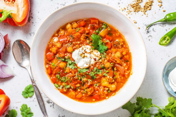 Protein Packed Moroccan Spiced Soup