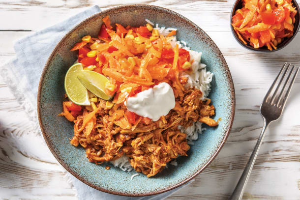 Pulled Mexican Chicken & Rice Bowl