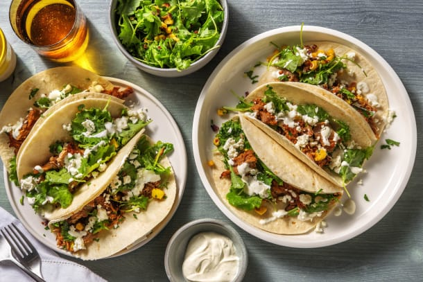 Quick Dinner Ideas - Pulled Pork and Pineapple Tacos