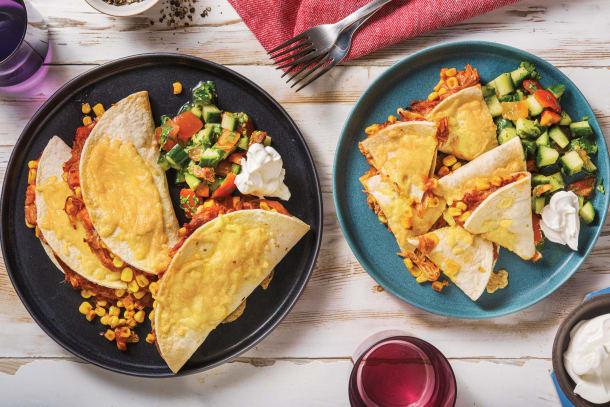 Pulled Pork & Veggie Quesadillas