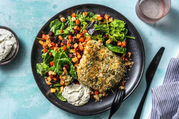 Hälsosamma Recept - Parmesan- och senapspanerad kycklingfilé