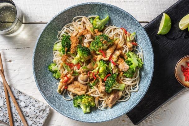 Hälsosamma Recept - Nudelwok med kyckling