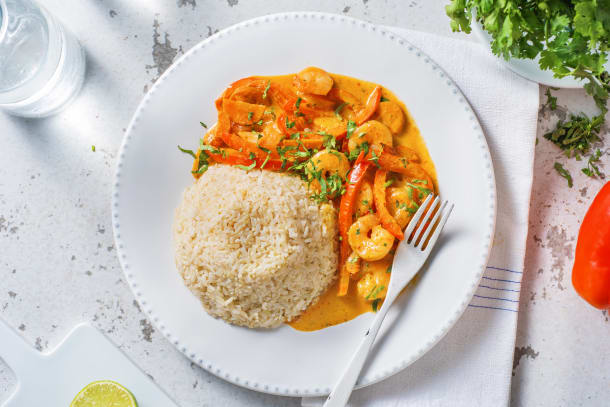 Red Thai-Style Prawn Curry