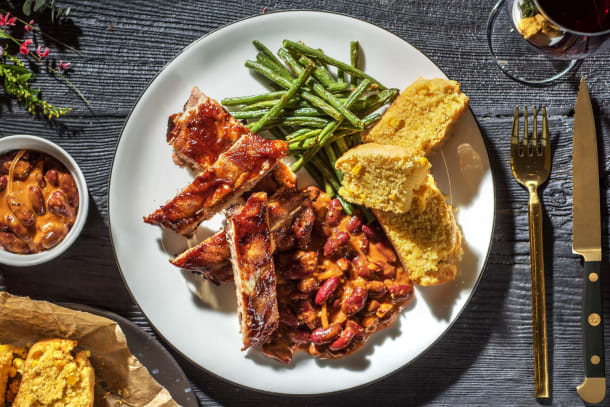 Ribs and BBQ Beans