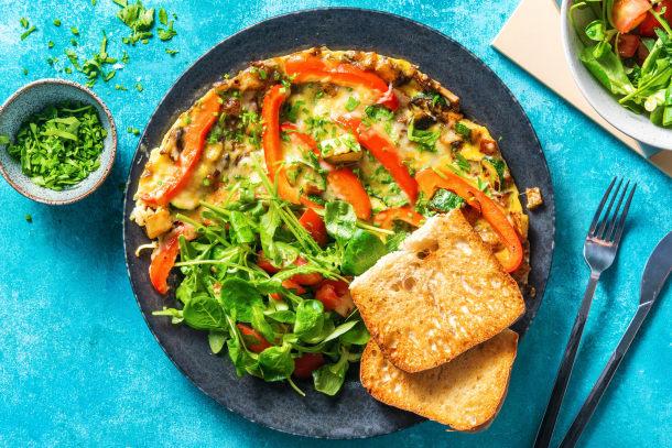 Snelle gerechten - Rijkgevulde boerenomelet