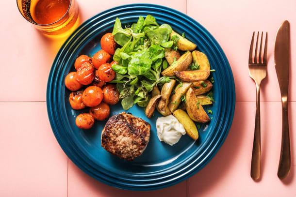 Leichter Genuss - Rindersteak mit geschmorten Tomaten