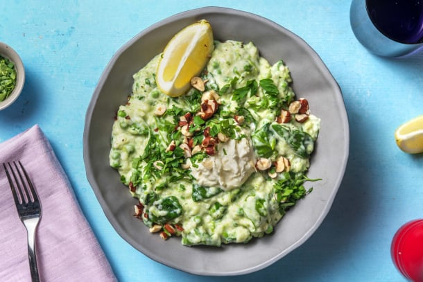 Schnelle Gerichte - Risotto mit Erbsen und Mascarpone
