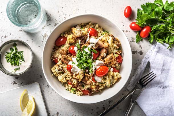 Low Calorie Meals - Roast Vegetable, Bulgur Wheat & Chicken Salad