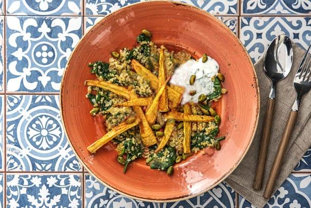 Vegetarian Recipes - Roasted Curried Parsnips (V)