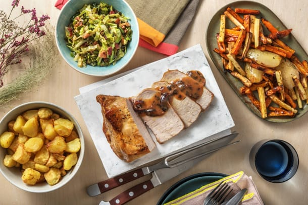 Roasted Pork and Honey Glazed Veggies
