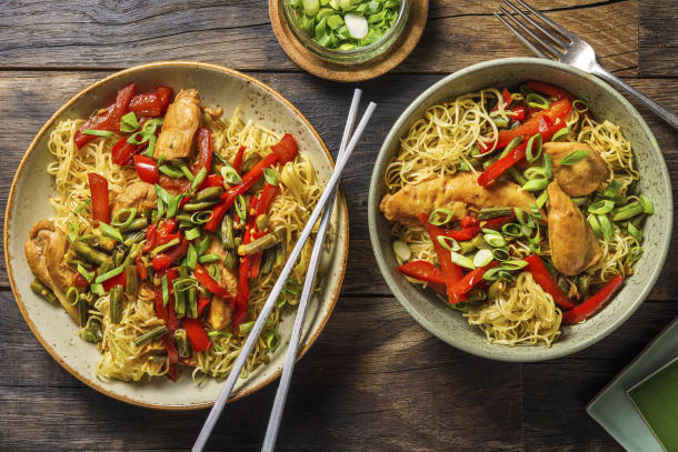 Saucy Chicken and Crispy Noodle Bowl