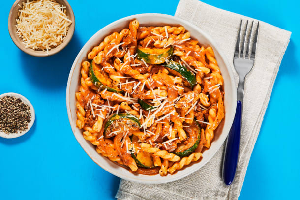 Quick meals - Chicken Sausage Gemelli Bolognese
