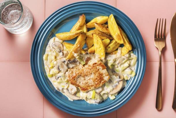 Gesunde Gerichte - Minuten-Schweinesteak mit Kartoffeln