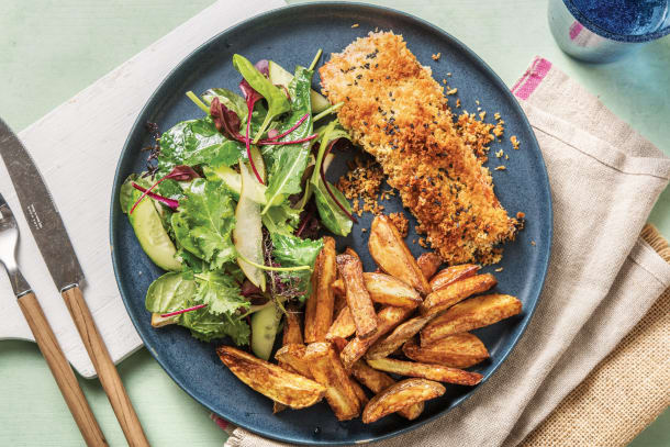 Quick Meals - Sesame-Crumbed Salmon