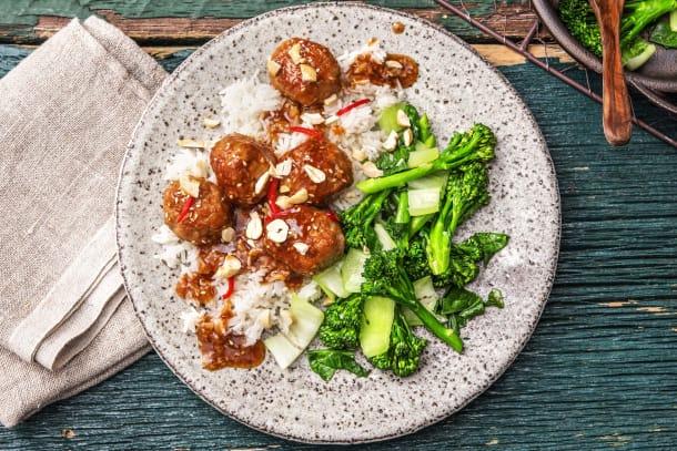 Sesame-Hoisin Meatballs