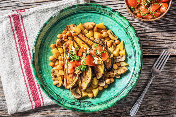 Vegetarian Recipes - Shawarma Roasted Aubergine