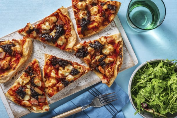 Quick Meals - Showstopping Smoky Bacon & Onion Pizza