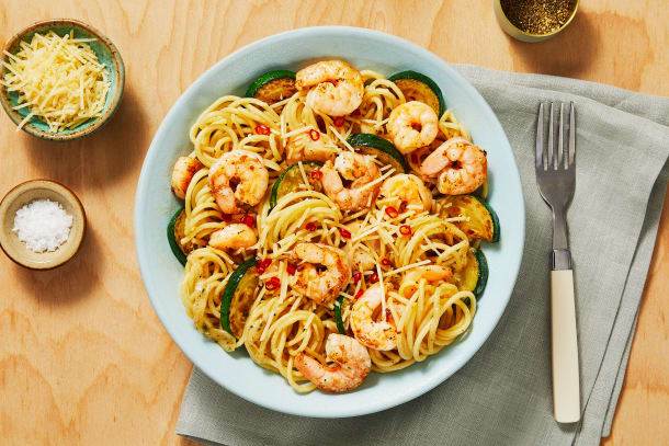 Quick meals - Shrimp Spaghetti with a Kick