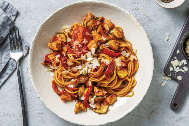 Sicilian Chicken Spaghetti