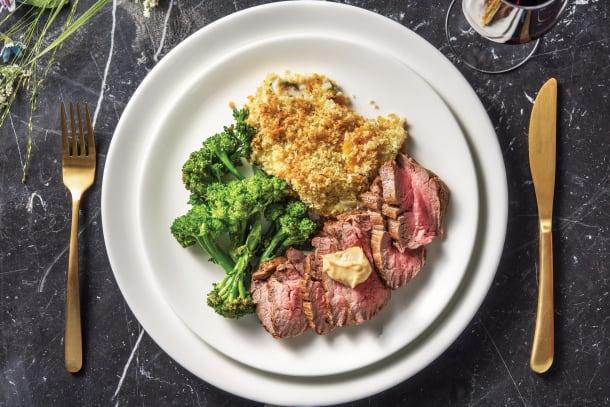 Premium Fillet Steak & Pumpkin-Sage Gratin