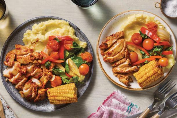 Family favourites - Smokey Chicken & Veggie Traybake