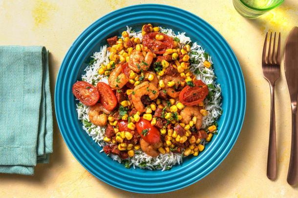 Quick Meals - Smoky Chorizo & King Prawn Rice
