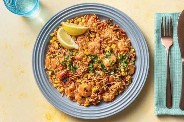 Low Calorie Meals - Smoky Chorizo & King Prawn Rice