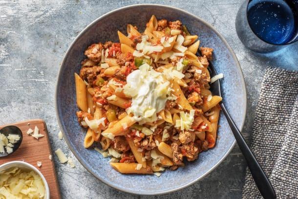 Snelle gerechten - Snelle pasta met Mexicaanse twist