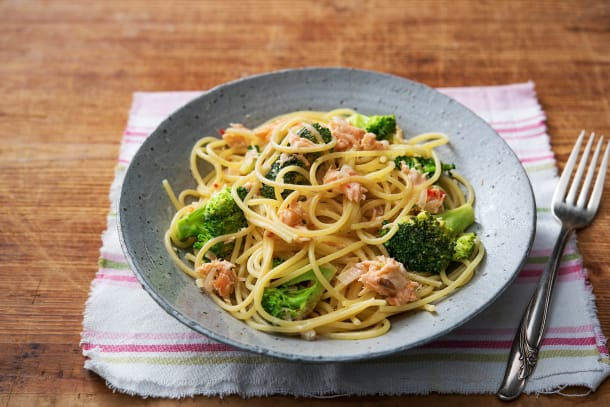 Spaghetti with Creamy Smoked Salmon