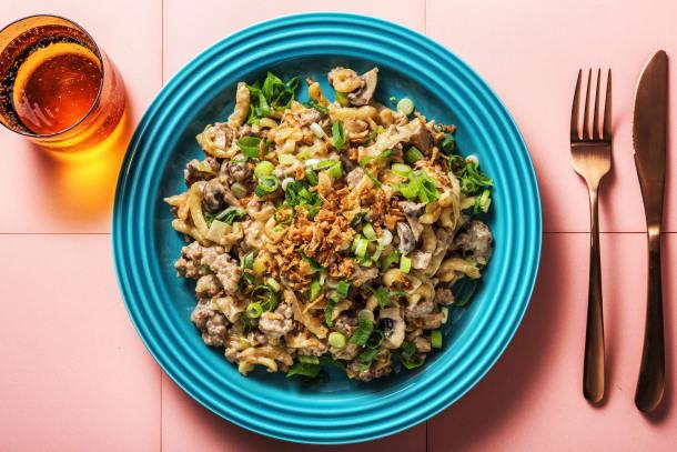 Schnelle Gerichte - Spätzle mit Hack und Röstzwiebeln