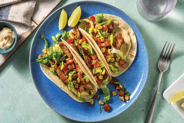 Speedy Caribbean Jerk Pork Tacos