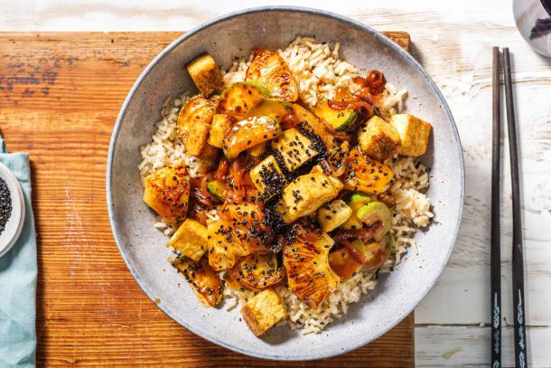 Spicy Korean BBQ Tofu Bowl