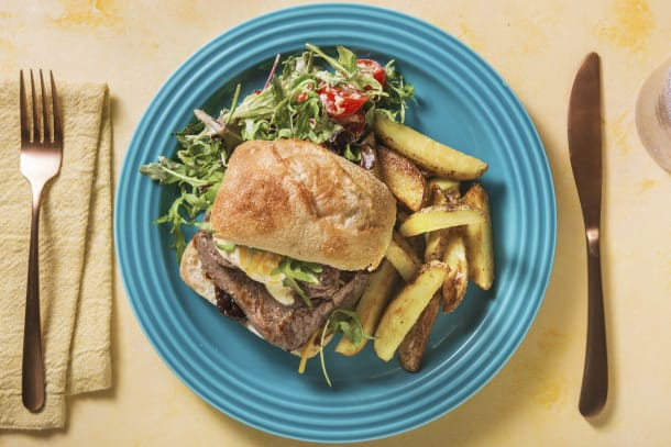 Quick Meals - Minute Steak Sandwich with Fried Potatoes