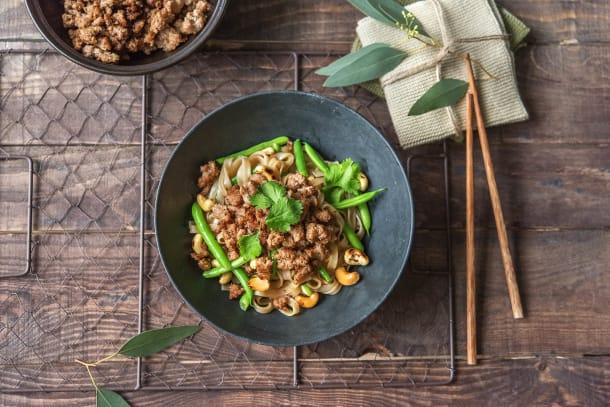 Sweet & Sticky Pork Rice Noodles