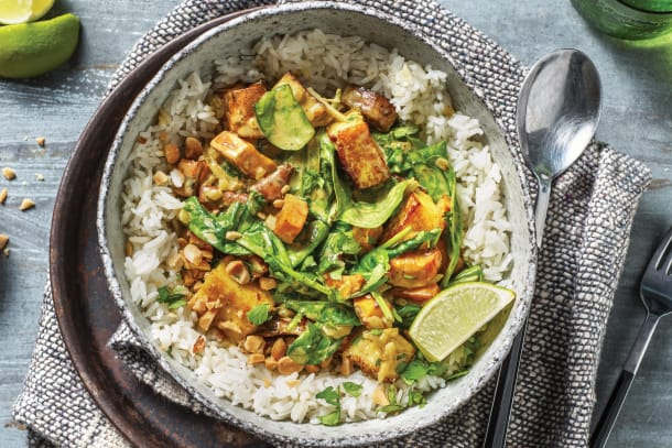 Sweet Potato, Spinach & Paneer Curry