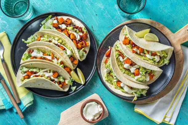 Thermomix Rezepte - Tacos mit Süßkartoffelwürfeln und Chorizo