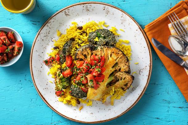 Vegetarian Recipes - Tandoori Broccoli Steak (v)